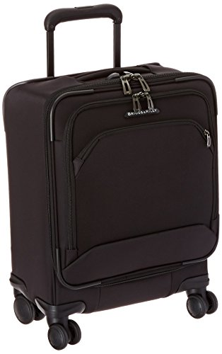 Briggs & Riley Transcend-Softside Carry-On Spinner Luggage, Black, 19-Inch
