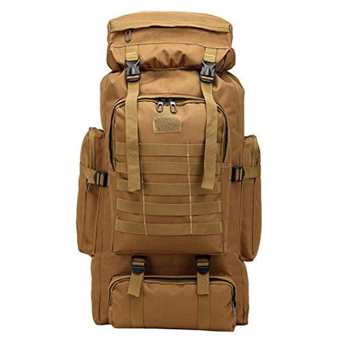 GFDFD Multifuncional Militar táctico Lienzo Mochila Hombres Gran ejército Cubo Bolsa Exterior Deportes Bolsa de Viaje Mochila de Viaje (Color : E)