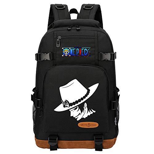CXWLK Mochila Resistente Al Agua, Ideal para Viajes Y Actividades Al Aire Libre, para Hombre Mujer Gran Capacidad Mochila De Gran Capacidad,One Piece,Black,46cmX29cmX13cm