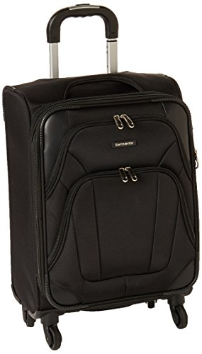 Samsonite Dakar-Lite Spinner Unisex Small Black Polyester Luggage Bag TSA Approved 330009019