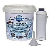 Aquintos Wasseraufbereitung Refill-Set passend für Delonghi ECAM / SER3017   DLSC002 mit 1 Liter Nachfüllgranulat