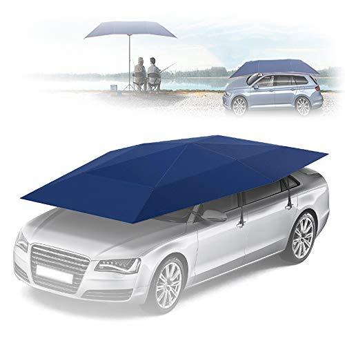 \t Paraguas De Coche,Sombrilla para Coche para Land Rover All Models, ProteccióN Solar para Todo El Coche, ProteccióN UV con Fuertes Ventosas De SuccióN Y Soporte