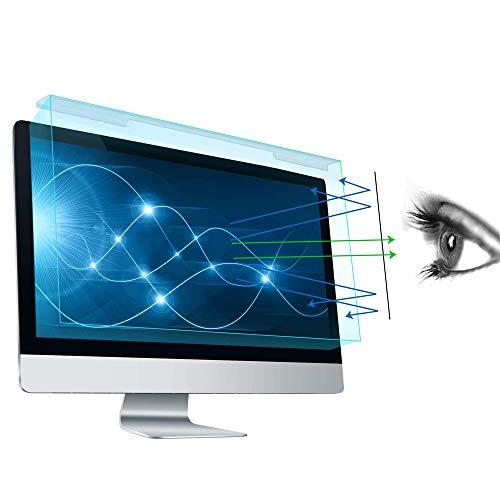 FiiMoo 20-22 Pulgadas Computadora Universal Filtro de Anti Luz Azul y Protector, Película de Filtro de Protección Ocular Anti-UV para 20', 21,5', 22' PC & Monitor 16:9/16:10 (19,88 x 12,59 Inch/LxW)