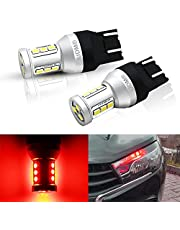 2 stks T20 7440 W21W 7441 7443 7444 W21 / 5W LED-lampen voor Lada Dimension Lights Bollen Super Bright White Amber Red DC12-24V