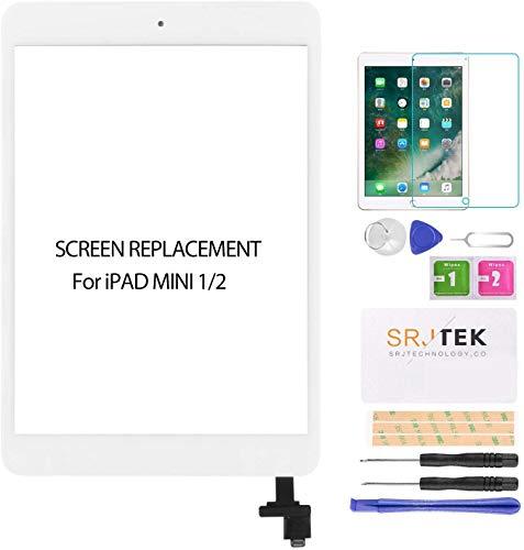 SRJTEK Reemplazo de pantalla para IPad Mini 1 2 A1432, A1454, A1455,...