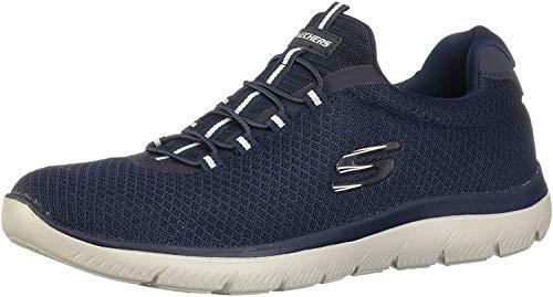 Skechers Summits, Zapatillas sin Cordones para Hombre, Azul (Navy Mesh/Trim Nvy), 42 EU