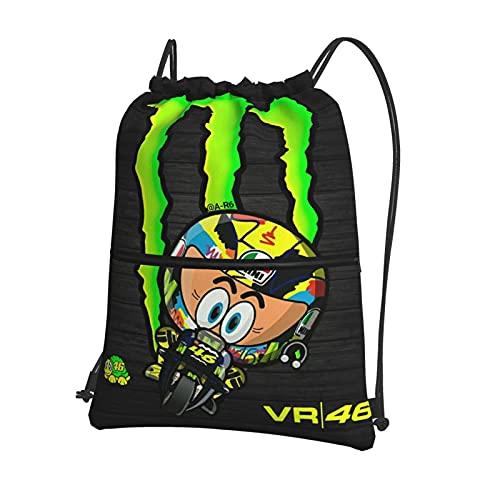 Valentino Rossi VR46 Mochila Gimnasio Bolsa de Cordón Bolsas Gimnasio Natación Escuela Bolsa para Niños