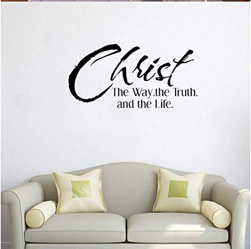 Aufkleber Aufkleber Wallpaper 59,9 Cm * 30,6 Cm Weg, Wahrheit Und Leben Inspiration Bibel Schrift Religion Zitate Pvc Wandaufkleber