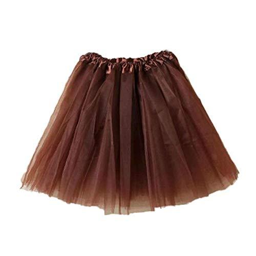 NEEKY Layers Tutu Tulle Skirt Short Ballet Dance Dress Accessories for Women Colours Girls - Frauen Ballett Tutu Geschichteten Organza Spitze Minirock