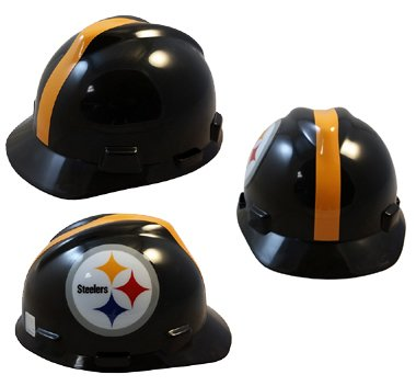 MSA NFL Safety Hard Hats with Staz On Suspension - Pittsburgh Steelers Hard Hats