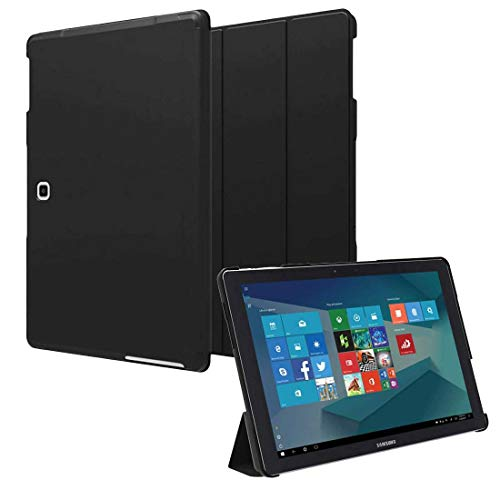 Folio Case for Samsung Galaxy Book 12 - Slim Cover Defender with Smart Folding Stand for Galaxy Book 12 - Black