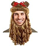 Cowardly Lion Wig & Beard Set, Brown Adult HM-245
