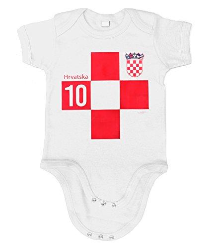 Artdiktat | Kroatien Hrvatska Trikot 2018 Wm Weltmeisterschaft | Wunschname und Wunschnummer am Rücken | Für Herren Damen Kinder Baby | Fan Russland Russia 18 53/60, D117