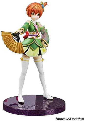 UanPlee-SC Anime-Charaktere Love Live !: Rin Hoshizora Kimono Grüne Version PVC Abbildung - 7 1 Zoll DSG412