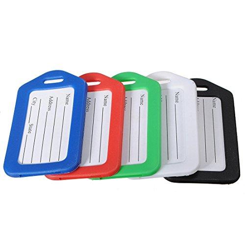 Bazaar koffer met 5 kleuren, kofferlabel, zelfklevende naam, adres, identificatielabels, kaarten