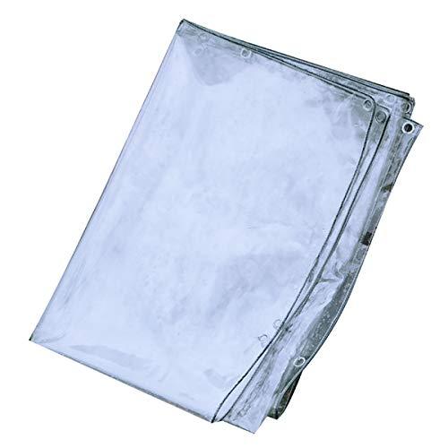 Tarps Bâche étanche Heavy Duty Solarium Usine antipluie Haute Transparence Extra épais Thermique Fusion Non Fuite d'eau en PVC Souple en Verre, 17 Tailles BU (Size : 2x4m)
