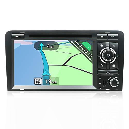 YUNTX Android 10 Autoradio Compatibile con Audi A3 (2003-2011) - GPS 2 Din - Telecamera Posteriore e Canbus Gratuiti - 7 Pollice - Supporto DAB + / Controllo del volante /4G/WiFi/Bluetooth/Mirrorlink