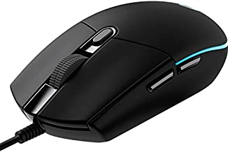 BHDZ G102 Wired Gaming Mouse Backlit Mechanical Mouse Side Button Glare Mouse Macro Laptop USB Home Office (Color : Black)