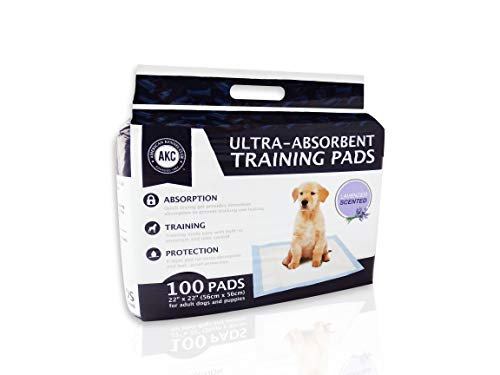American Kennel Club Lavender Scented Training Pads, White and Light Blue (22