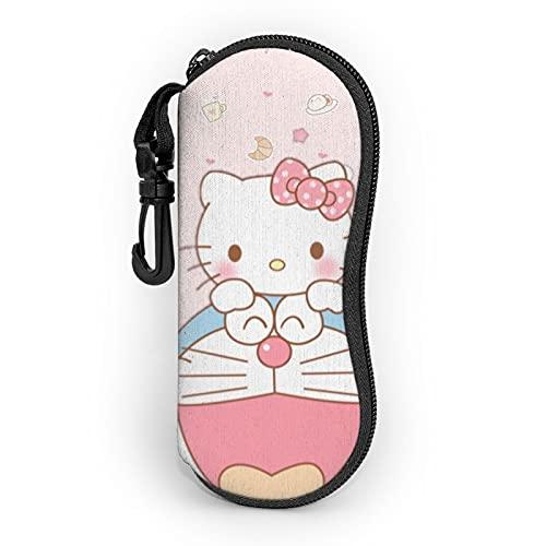 Hello Kitty - Funda para gafas, bolsa suave, ultraligera, diseño de personalidad, carpeta, mosquetón, gafas de sol para hombre y mujer