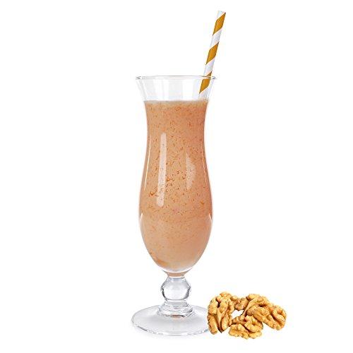Walnuss Geschmack Eiweißpulver Milch Proteinpulver Whey Protein Eiweiß L-Carnitin angereichert Eiweißkonzentrat für Proteinshakes Eiweißshakes Aspartamfrei (1 kg)