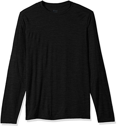 Ibex Outdoor Clothing Merino Wool Odyssey Crew T-Shirt, Black, Large