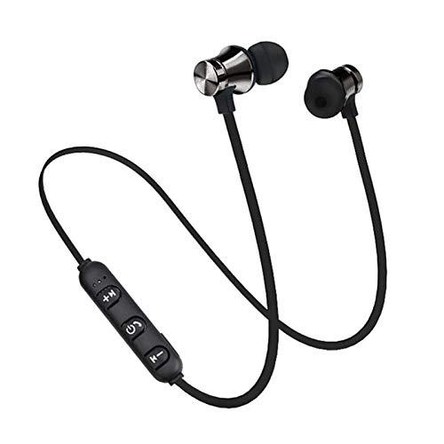 Washranp Auricular Bluetooth, XT11 inalámbrico magnético en la oreja universal Bluetooth para deportes negro