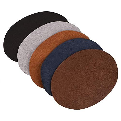 Reparatur-Patches Packung mit 10 sortierte Farbe Oval PU Leder Patch Reparatur Nähen Elbow Knie Patches Kleidung Zubehör