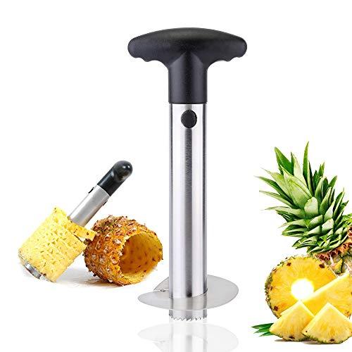 Latauar Coupe-légumes pour ananas, trancheuse, éplucheur, couteau en acier inoxydable pour retirer...