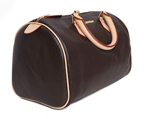 Vestino Damen Handtasche Henkeltasche Bowlingtasche Leder-Optik Bag 37x23x21 cm