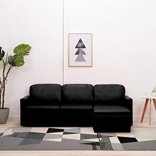 pedkit 3-Sitzer Modular - Ecksofa, Sofa, Wohnlandschaft & Modulsofa Schwarz, 216 x 149 x 72 cm