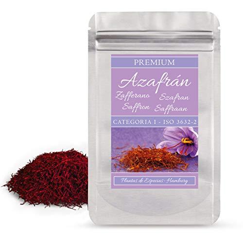 5g di zafferano in pistilli Sargol, saffron rosso di recente raccolta-Serie Espido Gourmet -Qualità Categoria 1 superiore ISO 3632-2 in confezione richiudibile che ne preserva l'aroma, Azafran