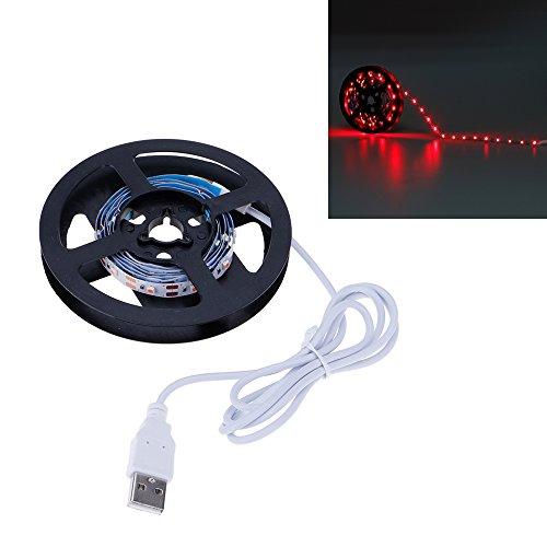 VANKER Flexible 3528SMD USB 5V LED Chambre Boutique Laptop TV Rétroéclairage Bande de Lumière 1M Rouge
