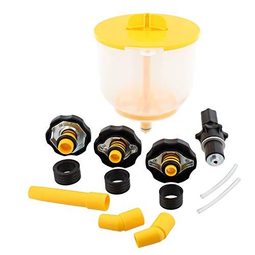 ABN AC Radiator Funnel Fill Kit - Spill Proof Coolant Flush Set Radiator Bleeding for Refilling Coolant No Spill Bleeder