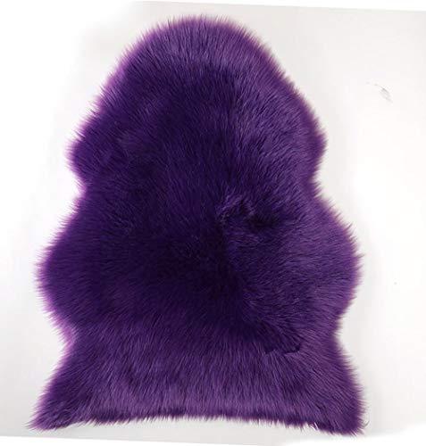 Charm4you Contorneada Rayas Alfombra Dormitorio,Mobiliario para el hogar Alfombra Curvada de Felpa Irregular-púrpura_60 * 200,Elegante De Pelo Largo Mullida Alfombra
