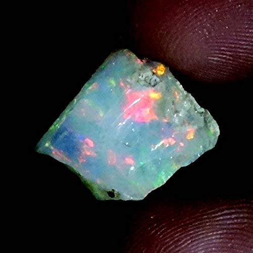 03.20Cts 100% A+ Natural Ethiopian Welo Opal Rough Stone, Raw Crystal,October Birthstone, Jewelry Making Gemstone, Ultra Fire Striking Opal, Opal Rock, Handpicked Stone, Size-12X12X03MM