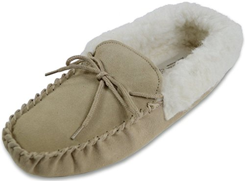 Sheepskin World , Damen Hausschuhe Braun Camel