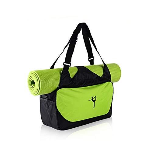 Gym Sporttasche, Kann Yoga-Matte Große Kapazität Kleidung Speicher Rucksack wasserdichte Schulter Sport Seesäcke Tasche (Grün)