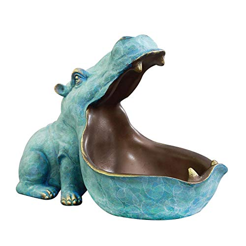 Fancylane Llaves, Big Mouth Hippo joyas llaves teléfono Candy joyas joyas joyas figuras hipopótamo decoración