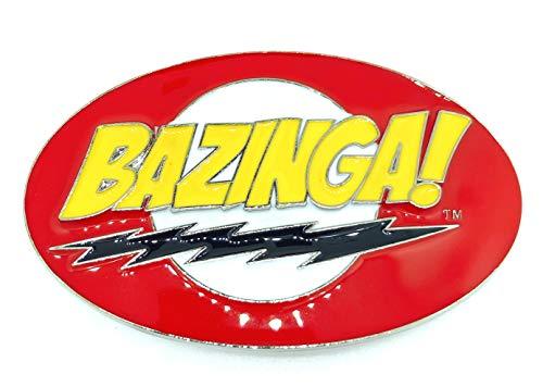Gemelolandia Hebilla de Cinturón Big Bang Theory Bazinga 10x6cm | Complementos de Moda Unisex Para Hombres y Mujeres Exclusivos y Atemporales | Accesorios Para Regalos Originales
