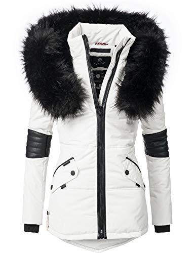 Navahoo Damen Winter Jacke Steppjacke Nirvana (vegan hergestellt) Weiß Gr. M