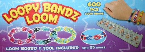 Toyland Loom Girls Band Kit Bracelet Bijoux Maker Bandes coloré Arc-en- Caoutchouc