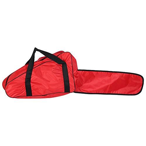Alvinlite Bolsa de Transporte para Motosierra Funda de Transporte para Motosierra de 20 Pulgadas Bolsa de protección Universal portátil Accesorios para Motosierra Tela Oxford Rojo