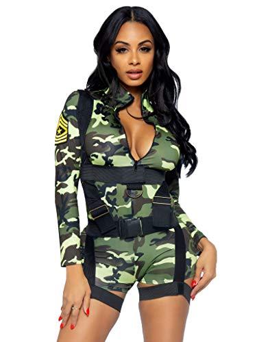 LEG AVENUE 85292 - Goin Commando Kostüm Set, 2-teilig, Größe S, camo