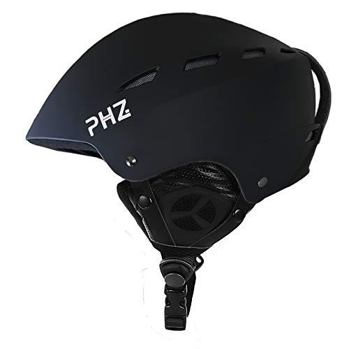 PHZ Skihelm Snowboardhelm Unisex Erwachsene CE EN 1077 Schwarz Weiß M/L 55-61
