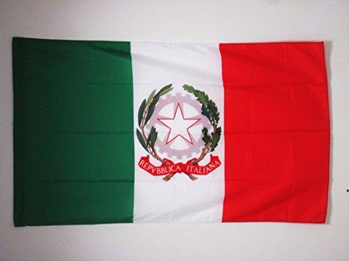 AZ FLAG Drapeau Pavillon d'État d'Italie 90x60cm - Drapeau Italien 60 x 90 cm Fourreau pour hampe