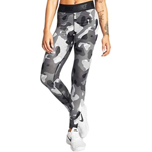 Nike W NSW SWSH LGGNG Camo Leggings, Damen, Schwarz XS Schwarz/Weiß