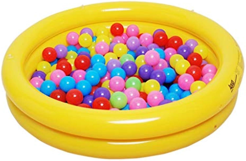 Home praktische Badewanne Baby aufblasbarer Pool Runde Badewanne aus weichem Kunststoff für Kinder in zwei Farben (Farbe   Gelb, Gre   Foot pump)
