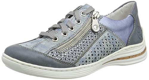 Rieker Damen Frühjahr/Sommer M35G6 Sneaker, Blau (Adria/Heaven/Adria/Sky 12), 36 EU