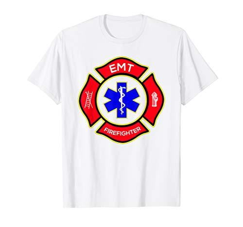EMT Firefighter T Shirt Logo, Badge, Emergency Responder